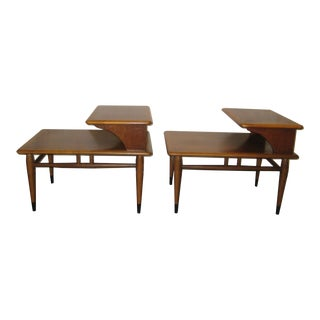 1960s Mid-Century Modern Acclaim Two Tier End Tables - a Pair For Sale