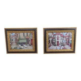 Italian Trattoria Framed Art Prints - A Pair