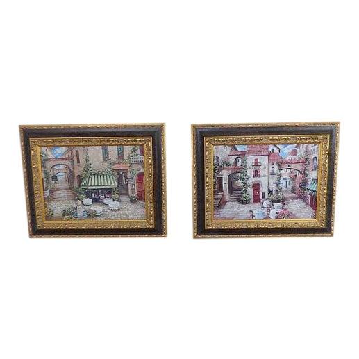 Italian Trattoria Framed Art Prints - A Pair For Sale