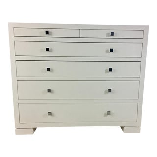 Bungalow 5 White Frances Six Drawer White Chest For Sale