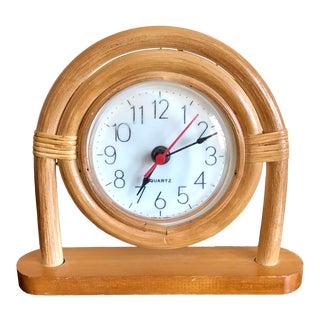 Rattan Desk Clock For Sale