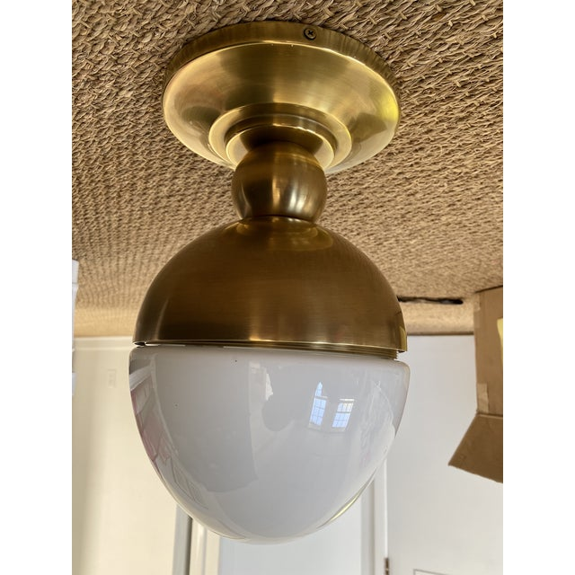Metal Visual Comfort Clark Flush Mount Light - 2 Available For Sale - Image 7 of 7