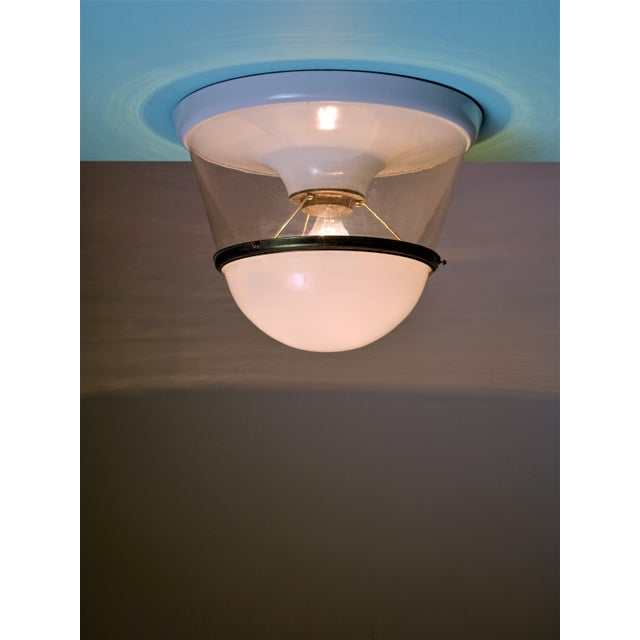 Mid-Century Modern One of Two Very Large and Early Modernist Ceiling Lamps, 1920s For Sale - Image 3 of 3
