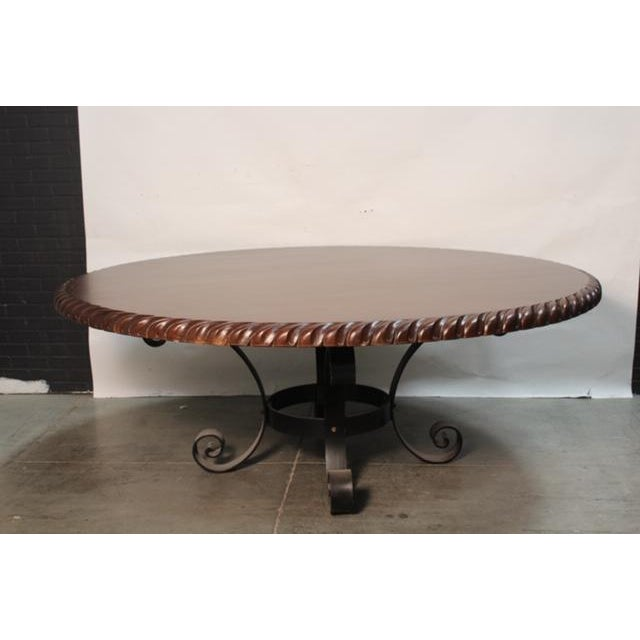 """Mediterranean Old World 78"""" Round Dining Table For Sale - Image 4 of 4"""