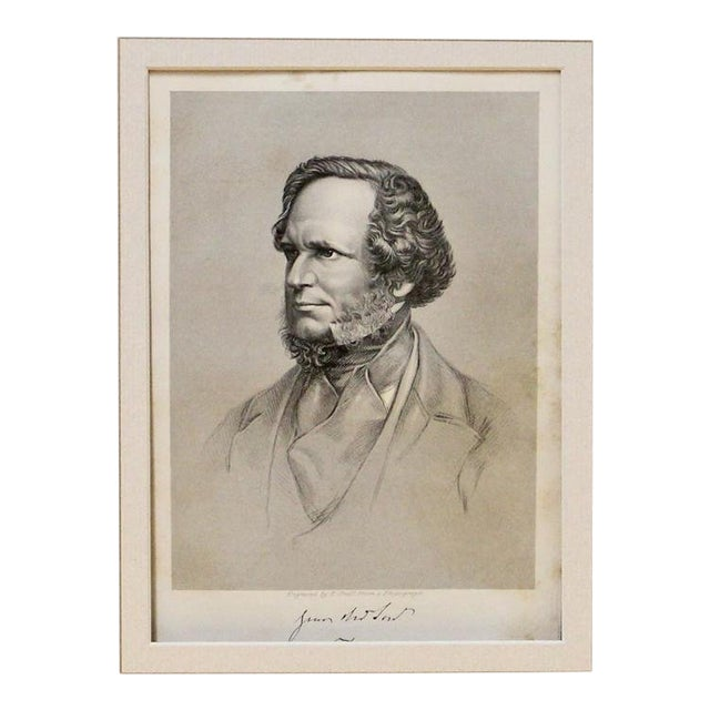 1869 Antique Earl of Derby Print For Sale