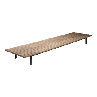 Extra Large Charlotte Perriand Slat Bench or Table For Sale