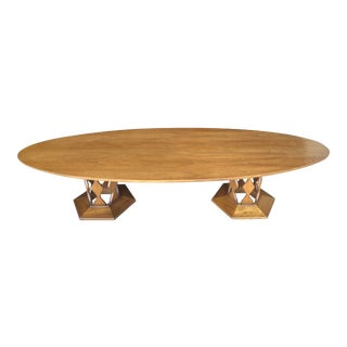 Mid Century Modern Surf Board Foster McDavid Coffee Table For Sale