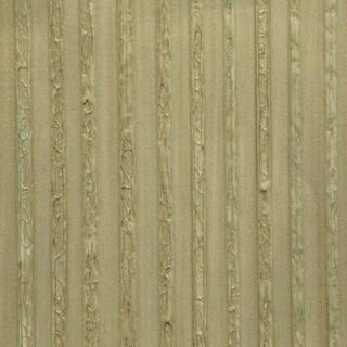 Sample, Maya Romanoff Galvanized - Brass Patina - Hand-Painted Paper Wallcovering For Sale