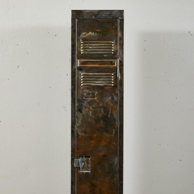 Gray German Industrial Metal Lockers, circa 1940 - A Pair For Sale - Image 8 of 10
