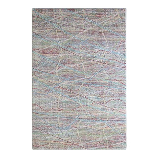 Flawless Multi Color Scribble Rug 5'3''x 7'7''