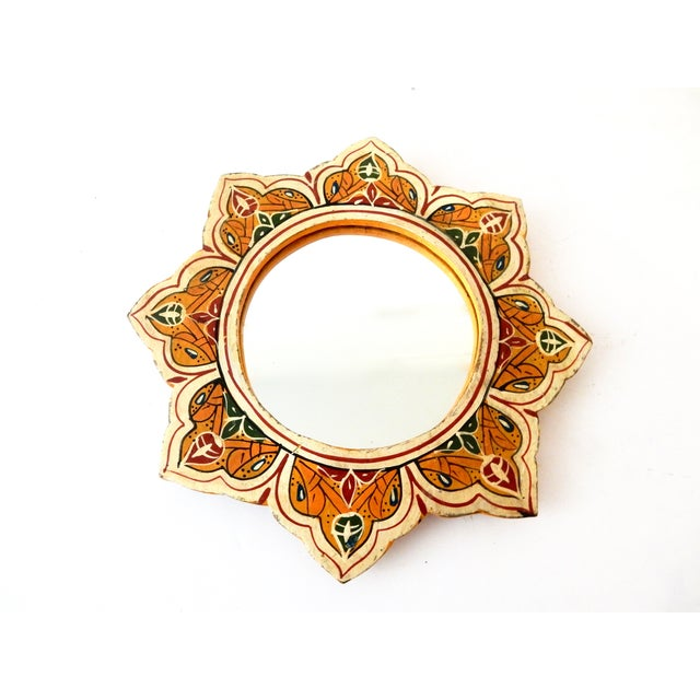 Hand-Painted Moroccan Sunburst Mirror - Image 2 of 5