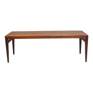 Midcentury Danish Rosewood Extending Coffee Table by Severin Hansen for Haslev For Sale