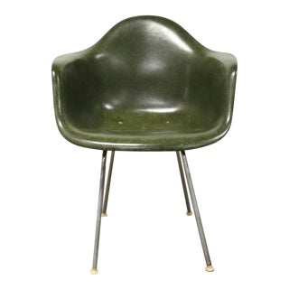 Eames Herman Miller Green Arm Shell Chair For Sale