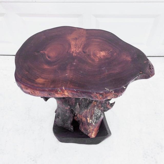 Vintage Primitive Live Edge Pedestal Table For Sale - Image 4 of 13
