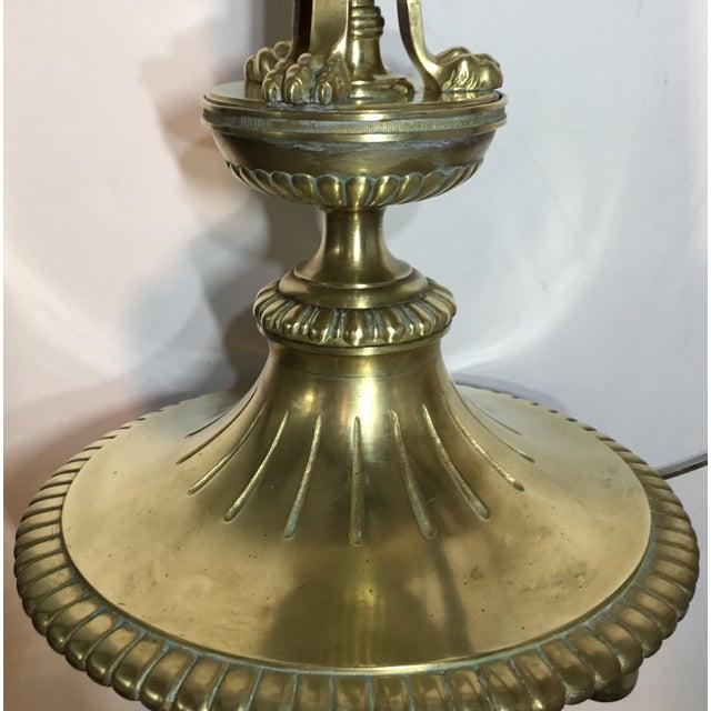 Vintage Brass & Bronze English Floor Lamp - Image 11 of 11