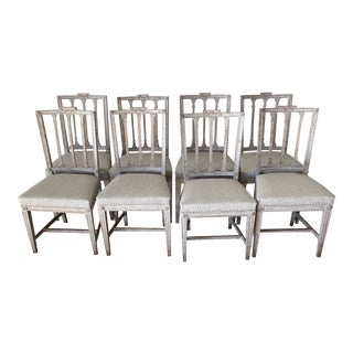 18th Century Gustavian Swedish Chairs - Set of 8 For Sale