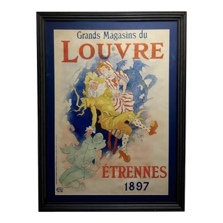 Grands Magasins Du Louvre -Original 1897 French Poster by Jules Cheret For Sale