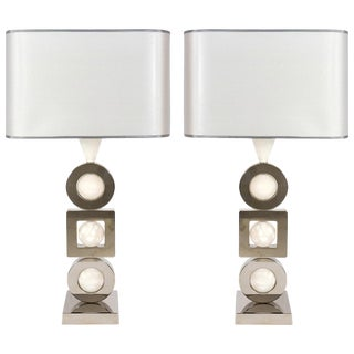 Laudarte Srl Andromeda Table Lamp by Attilio Amato, Pair Available For Sale