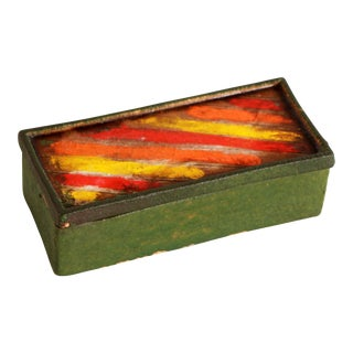 Vintage Aldo Londi for Bitossi Italian Pottery Lidded Box For Sale