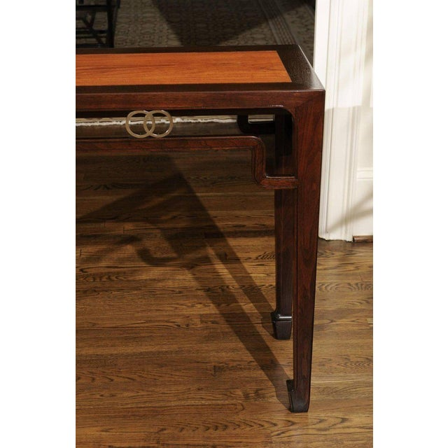 Brown Stunning Restored Altar Console Table by Michael Taylor for Baker, Circa 1970 For Sale - Image 8 of 11