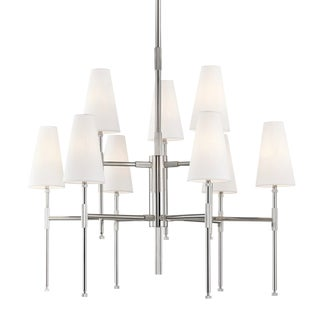 Bowery 9 Light Chandelier - Pn