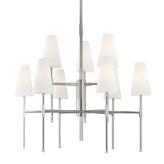 Bowery 9 Light Chandelier - Pn For Sale