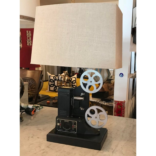 Custom Vintage Movie Projector Table Lamp For Sale - Image 9 of 9