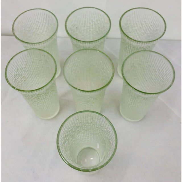 Glass Vintage Faux Bamboo Style Cocktail Tumbler Highball Glasses - Set of 7 For Sale - Image 7 of 11