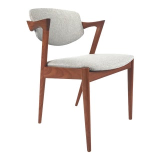 Vintage Danish Kai Kristiansen Model #42 Teak Dining Chair For Sale