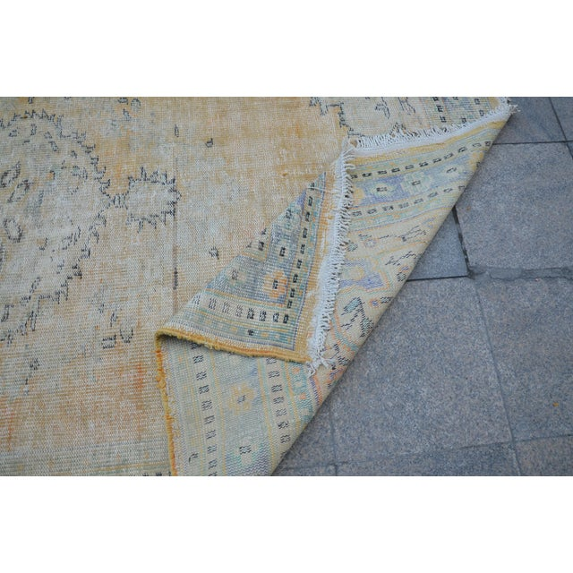 """Textile Faded Bohemian Turkish Area Carpet - 69"""" x 110"""" For Sale - Image 7 of 7"""
