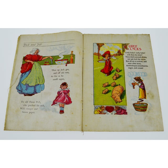 "McLoughlin Bros. ""Jack and Jill"" Children's Linen Book For Sale - Image 5 of 13"