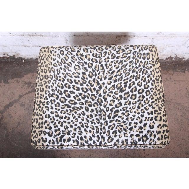 Textile Patrick Frey X-Base Leopard Stool or Ottoman, Paris For Sale - Image 7 of 13