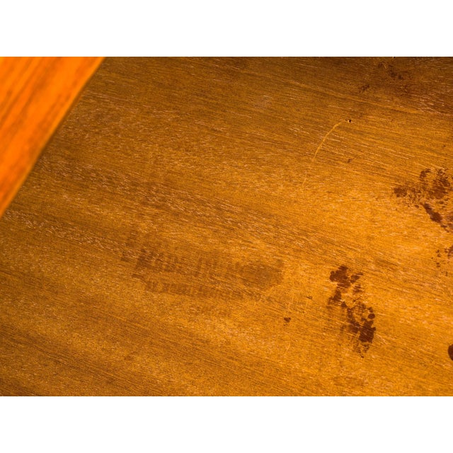 Brown Norwegian Rosewood Side Table With Metal Trim For Sale - Image 8 of 9