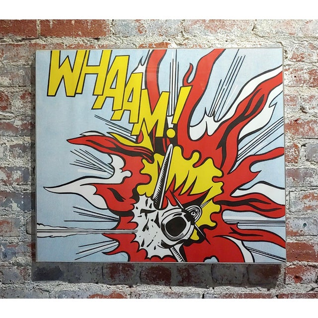Modern Roy Lichtenstein -Whaam ! - Vintage Lithographs - A Pair For Sale - Image 3 of 12