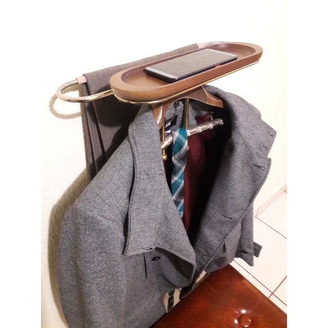 Mid-Century Coat Stand With Stool For Sale - Image 11 of 11