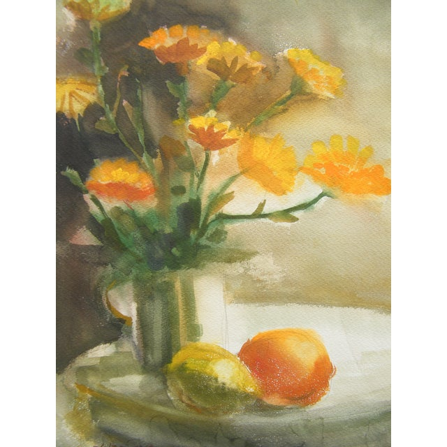 Vintage Still Life Svensto Watercolor Painting - Image 7 of 9