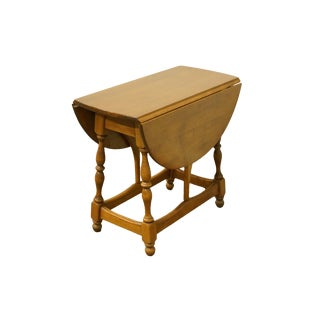 20th Century Early American Heywood Wakefield Solid Maple Drop Leaf Pembroke Accent Table For Sale