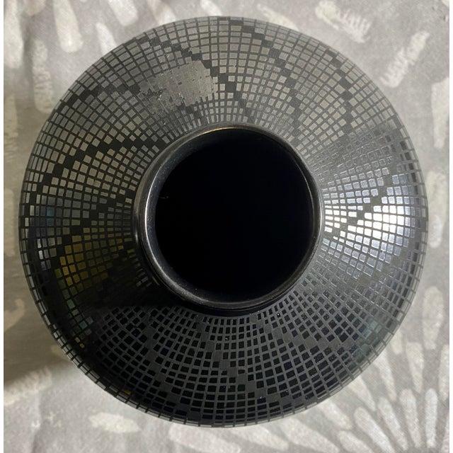 1950s 1950s Carolina Marin Gonzalez Black on Black Studio Pottery Vase For Sale - Image 5 of 11
