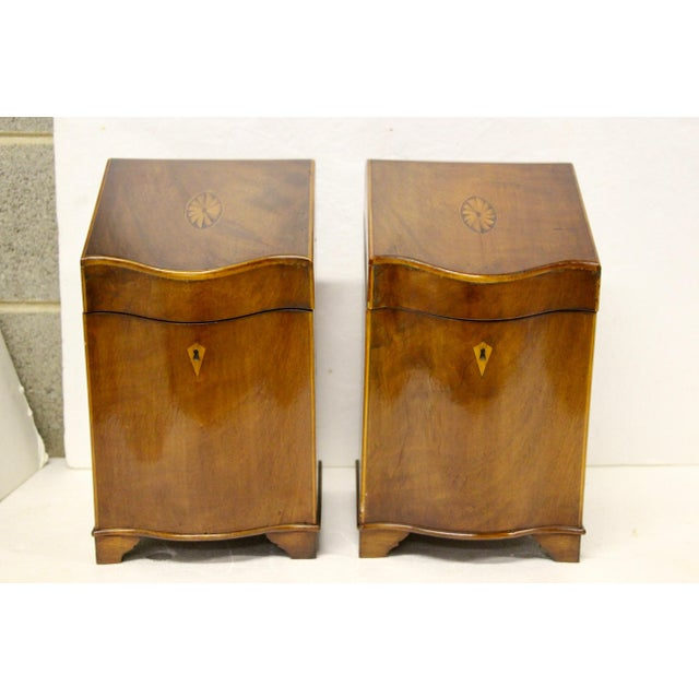 English Inlaid Cutlery Boxes, Pair For Sale In Richmond - Image 6 of 6