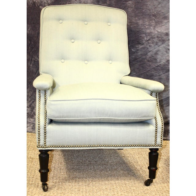Scalamandre Furniture Club Chairs- A Pair For Sale - Image 9 of 11