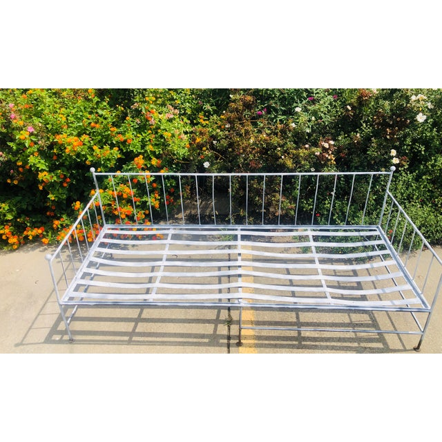 Boho Chic Vintage Wrought Iron Daybed Sofa For Sale - Image 3 of 6