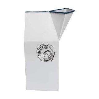 Modern Metal Enamel Milk Carton Vase For Sale