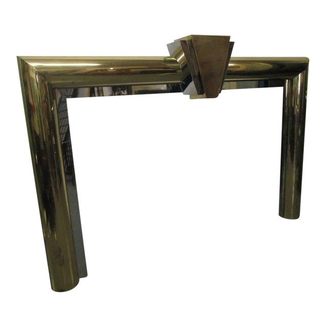 Fireplace Surround in Brass and Chrome by Danny Alessandro For Sale