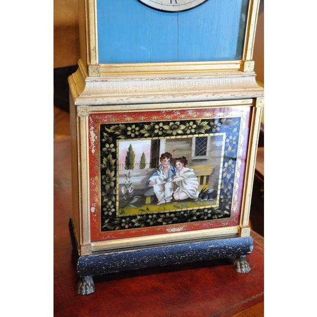 Rare and Important Aaron Willard Massachusetts Federal Shelf Bride's Clock, ca 1820 - Image 4 of 6