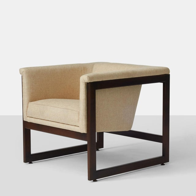 Mid-Century Modern milo baughman floating club chairs - a pair For Sale - Image 3 of 8