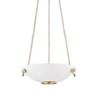 Plaster No.2 3 Light Small Pendant - AGB/WP For Sale