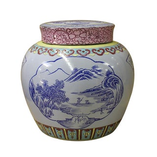Chinese Zisha Clay Color Scenery Container Jar cs2634 For Sale