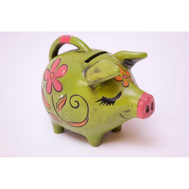 Vintage Japanese Paper Mache Piggy Bank For Sale - Image 11 of 11