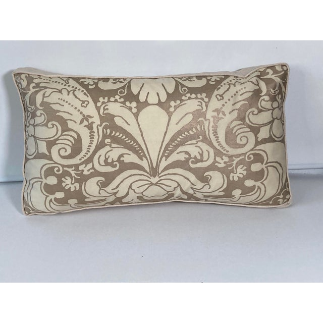 Contemporary Fortuny Bronze and Cream Pillow For Sale In Philadelphia - Image 6 of 6