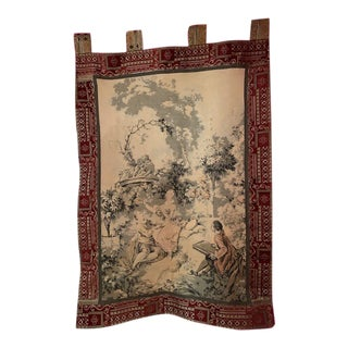 Antique French Tapestry 19th Century For Sale